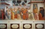 Фреска | Мазаччо | Воскрешение сына Теофила и св. Пётр на кафедре