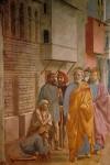 Фреска | Мазаччо | Святой Пётр исцеляет больного своей тенью