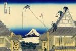 Гравюра | Кацусика Хокусай | 36 видов горы Фудзи | Магазин Мицуи на улице Суруга в Эдо, 1831