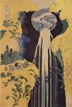 Гравюра | Кацусика Хокусай | Водопад Амида у дороги Кисо, 1827