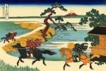 Гравюра | Кацусика Хокусай | Поля Секия у реки Сумида, 1831