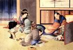 Гравюра | Кацусика Хокусай | Торговец подводит итог