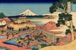 Гравюра | Кацусика Хокусай | Чайная плантация Катакуры в провинции Суруга