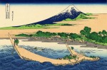 Гравюра | Кацусика Хокусай | 36 видов горы Фудзи | Берег залива Таго, 1832