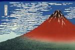 Гравюра | Кацусика Хокусай | 36 видов горы Фудзи | Гора Фудзи в хорошую погоду, 1831