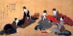 Гравюра | Кацусика Хокусай | Portrait Of Chino Hyogo Seated At His Writing Desk
