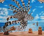Живопись | Андрей Горенков | Звук моря, рождающий в нашем воображении Огненного Дракона