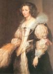 Живопись | Антонис ван Дейк | Портрет Марии Луизы Де Тасси, 1629