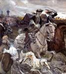 Живопись | Валентин Серов | Пётр II и цесаревна Елизавета на псовой охоте, 1900