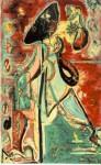 Живопись | Джексон Поллок | Лунная Женщина, 1942
