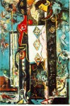 Живопись   Джексон Поллок   Он и Она, 1942