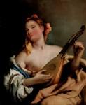 Живопись | Джованни Баттиста Тьеполо | Девушка с мандолиной, 1758-60