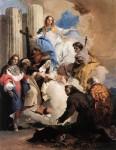 Живопись | Джованни Баттиста Тьеполо | Непорочная Дева и шесть святых, 1737