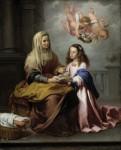Живопись | Мурильо | Воспитание Девы Марии, 1655