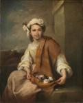 Живопись | Мурильо | Девушка с цветами, 1665-70