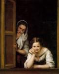 Живопись | Мурильо | Девушки у окна, 1670