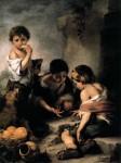 Живопись | Мурильо | Дети, играющие в кости, 1665-75