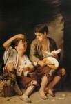 Живопись | Мурильо | Едоки дыни и винограда, 1645-55