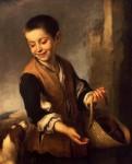 Живопись | Мурильо | Мальчик с Собакой, 1655-60