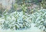 Живопись | Николай Мещерин | Сосны под Снегом