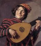 Живопись | Франс Халс | Шут с лютней, 1628-30