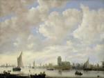 Живопись | Ян ван Гойен | Вид на Мерведе под Дордрехтом, около 1645