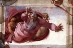 Фреска | Микеланджело | Отделении суши от воды, около 1512