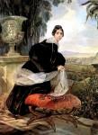 Акварель | Карл Брюллов | Портрет княгини Е. П. Салтыковой, 1833-1835