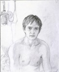 Графика | Дмитрий Белюкин | Раны Афганистана | Эдуард Зайцев в больничной палате, 1987
