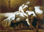 Графика   Теодор Жерико   Поцелуй, 1822