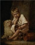 Живопись | Алексей Венецианов | «Вот-те и батькин обед!», 1824