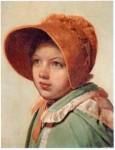Живопись | Алексей Венецианов | Портрет А. А. Венециановой, дочери художника (Девочка в шляпке), 1826