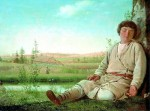 Живопись | Алексей Венецианов | Спящий пастушок, 1824
