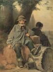 Живопись | Василий Перов | Парижские тряпичники, 1864