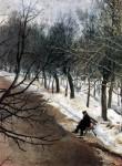 Живопись | Василий Суриков | Зубовский Бульвар Зимою, 1886