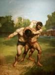 Живопись | Гюстав Курбе | Борцы, 1853
