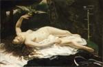 Живопись | Гюстав Курбе | Женщина с попугаем, 1866