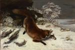 Живопись | Гюстав Курбе | Лиса на снегу, 1860