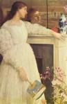 Живопись | Джеймс Уистлер | Симфония в белом № 2. Девушка в белом, 1864