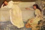 Живопись   Джеймс Уистлер   Симфония в белом № 3, 1867
