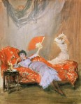 Живопись   Джеймс Уистлер   Milly Finch, 1884
