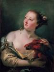 Живопись | Джованни Баттиста Тьеполо | Женщина с попугаем, 1760