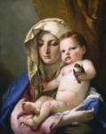 Живопись | Джованни Баттиста Тьеполо | Мадонна со щеглом, 1760