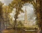 Живопись | Джон Констебл | Вид на Собор в Солсбери из Епископского Сада, 1823
