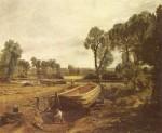 Живопись | Джон Констебл | Постройка лодки во Флэтфорде, 1815