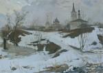 Живопись | Дмитрий Белюкин | Суздаль. Первая гроза, 2005