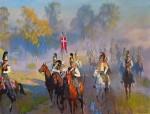 Живопись | Дмитрий Белюкин | Утро Бородинской битвы. Выезд Кавалергардского полка на позицию, 2011