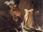Живопись | Доминик Энгр | Руджеро, освобождающий Анджелику, 1819