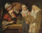 Живопись | Жан Антуан Ватто | Актеры французского театра, 1711-12