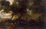 Живопись | Жан Антуан Ватто | Военный роздых, 1715
